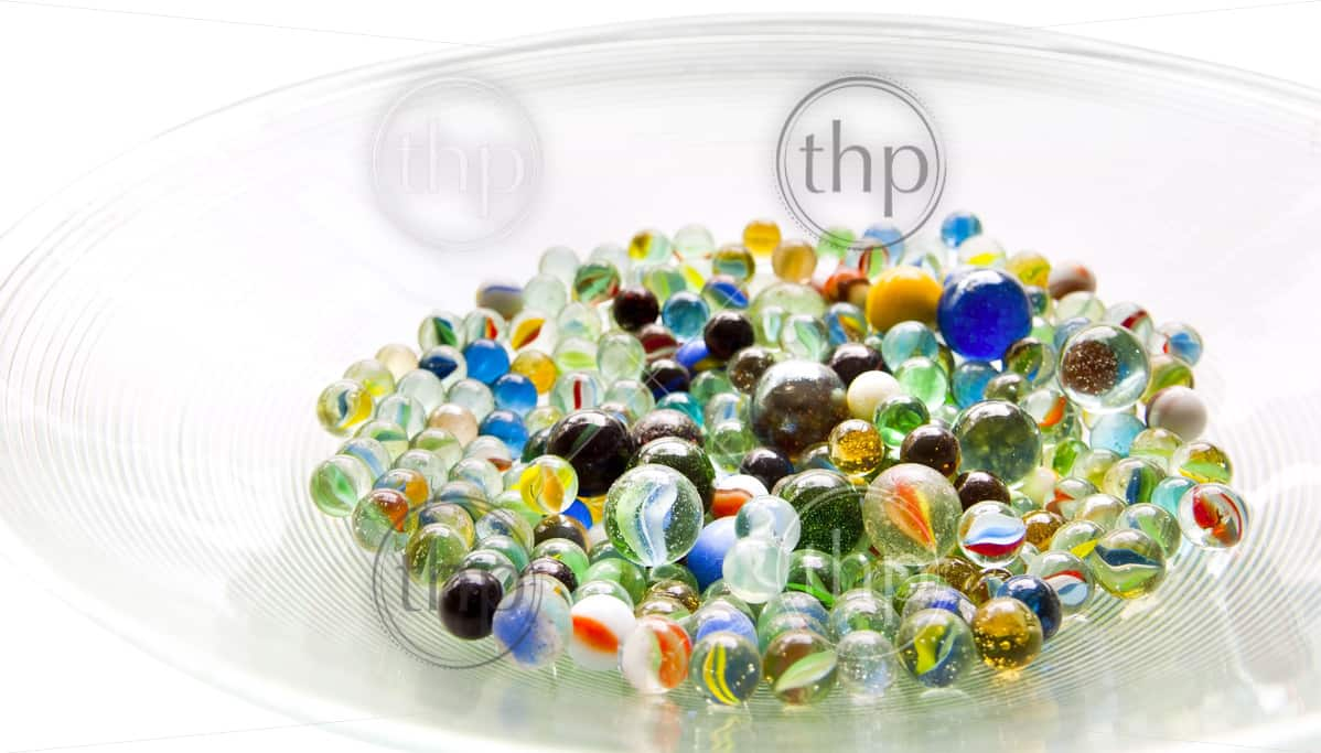 Bright Colored Marbles : Brightly colored marbles in different shades a bright