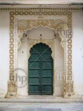 Ancient doorway on a fort in India