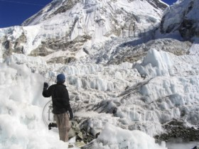 Mount Everest Base Camp with the Khumbu Icefall