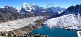 Spectacular panorama of the Gokyo Valley in the Nepalese Himalaya