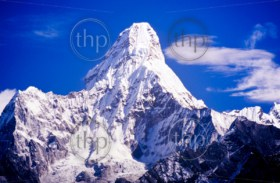 Ama Dablam in the Everest region of the Nepal Himalaya mountain range