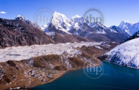 Stunning Gokyo Valley in the Nepalese Himalaya near Mount Everest