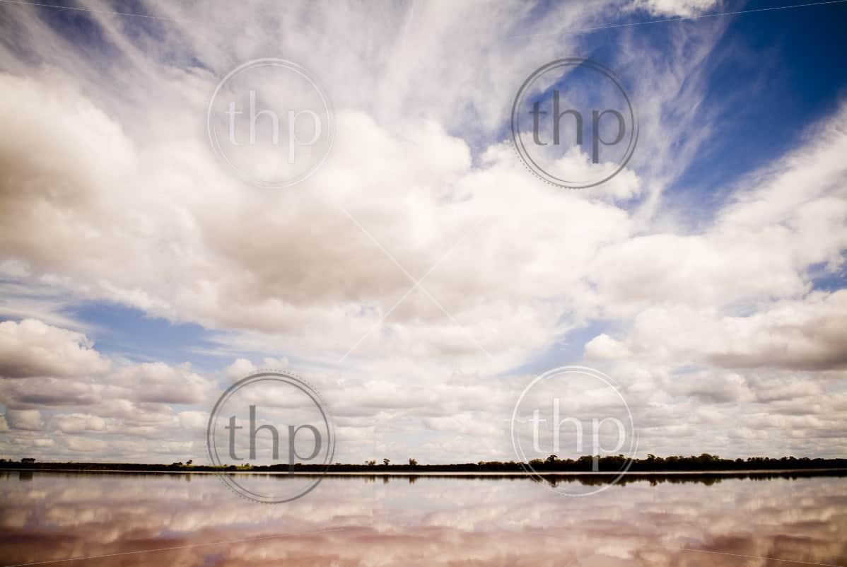 The remarkable Pink Lake, outside Dimboola, Australia