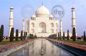 Taj Mahal, one of the seven wonders of the world, found in Agra, India