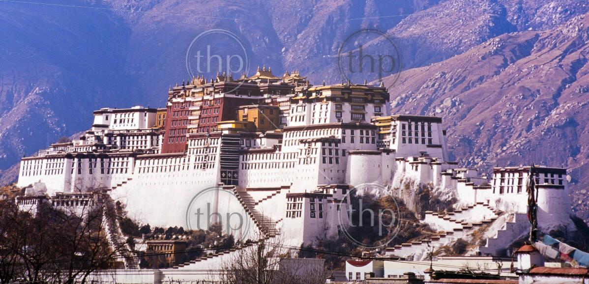 Potala Palace in Lhasa, Tibet, former home of the Dalai Lama