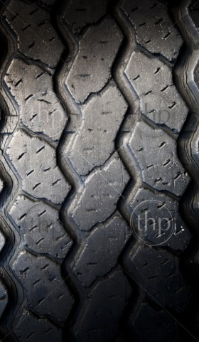 Tread patterns on old worn car tyres