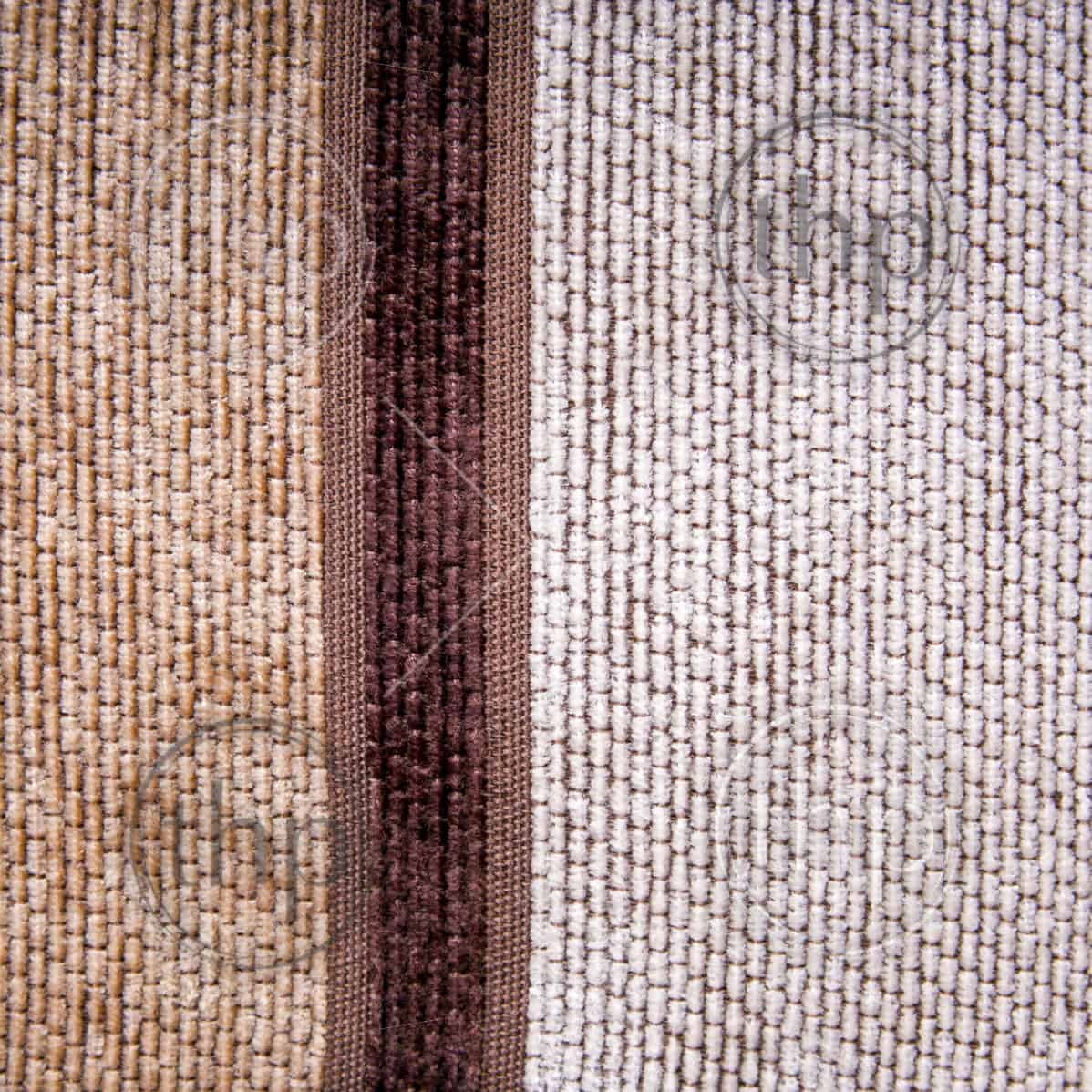 Retro styled fabric in browns and thick weave