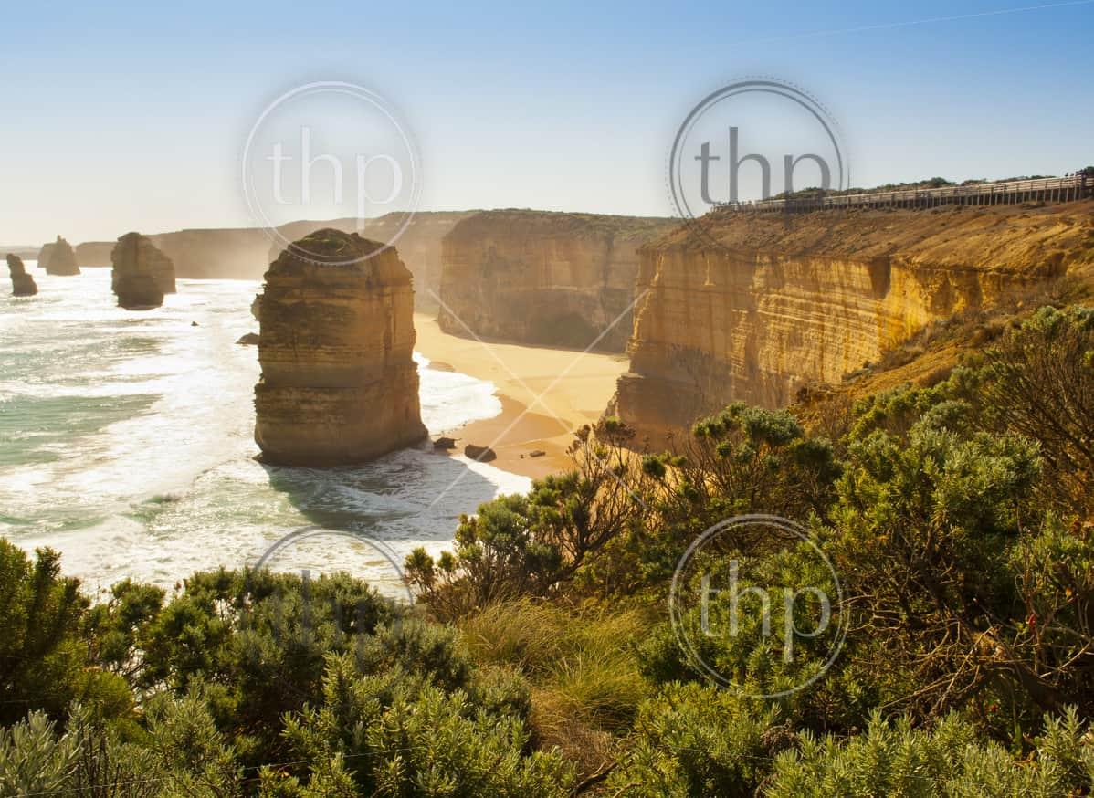 Twelve Apostles, famous landmark along the Great Ocean Road, Australia