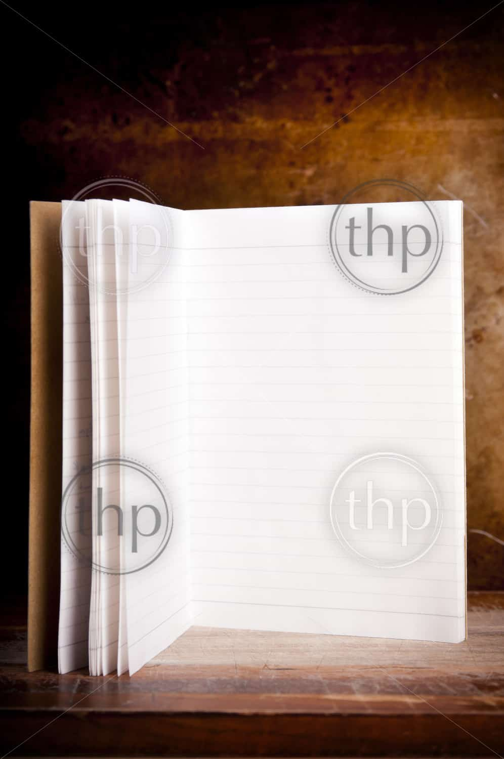 Vintage style blank note book paper with grunge background