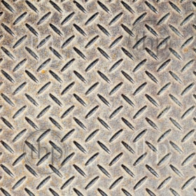 Detail of industrial grade checkerplate steel