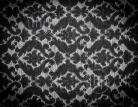 Vintage fabric background with detailed design in black and white