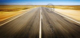 Open road ahead, endless road blur for concept
