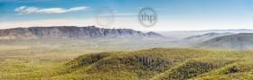 Panoramic view of mountains in the Victoria Valley, Grampians National Park, Victoria, Australia