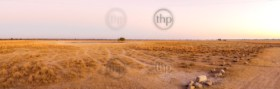 Sunrise landscape scenic on the African plains in Botswana on a self drive safari