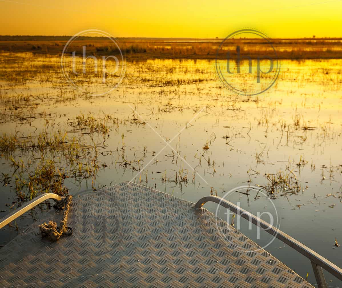 Sunset cruise on the Chobe River, Botswana, Africa