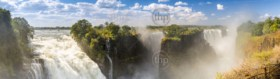 Victoria Falls waterfall in Africa, between Zambia and Zimbabwe, one of the seven wonders of the world
