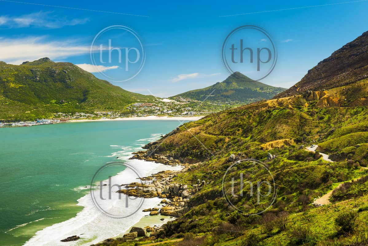 Scenic landscape of Chapman's Drive in Hout Bay, South Africa