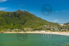 Hout Bay beach coastline on the Cape Peninsula, South Africa