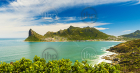 Panorama of Hout Bay near Cape Town, South Africa
