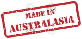 Red rubber stamp vector of Made In Australasia