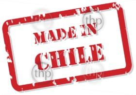 Red rubber stamp vector of Made In Chile