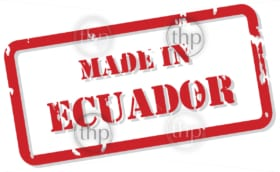 Red rubber stamp vector of Made In Ecuador