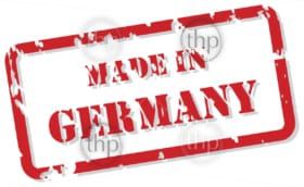 Red rubber stamp vector of Made In Germany
