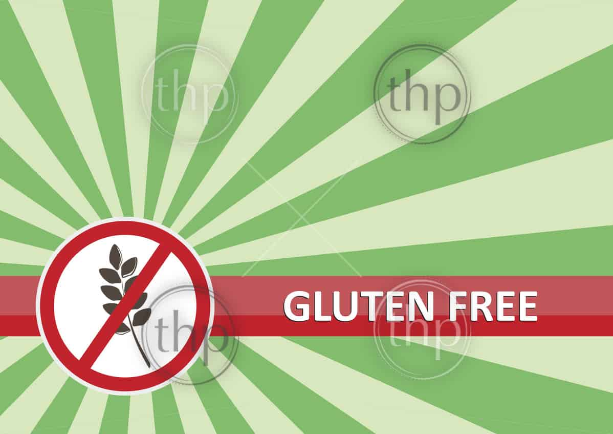 Gluten free banner for food allergy concept