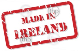 Red rubber stamp vector of Made In Ireland