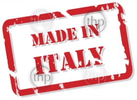 Red rubber stamp vector of Made In Italy