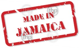 Red rubber stamp vector of Made In Jamaica