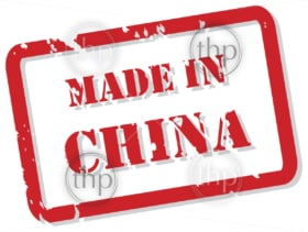 Red rubber stamp vector of Made In China
