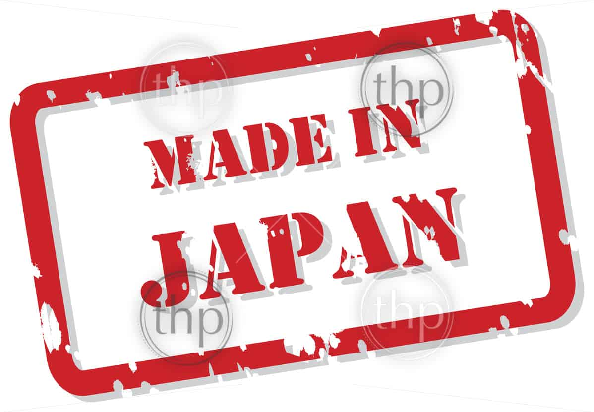 Red rubber stamp vector of Made In Japan