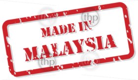 Red rubber stamp vector of Made In Malaysia