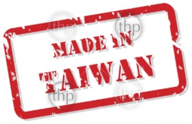 Red rubber stamp vector of Made In Taiwan