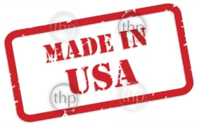 Red rubber stamp vector of Made In USA