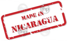 Red rubber stamp vector of Made In Nicaragua