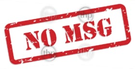 No MSG - Monosodium glutamate - red rubber stamp vector for food nutrition concept