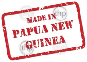 Red rubber stamp vector of Made In Papua New Guinea