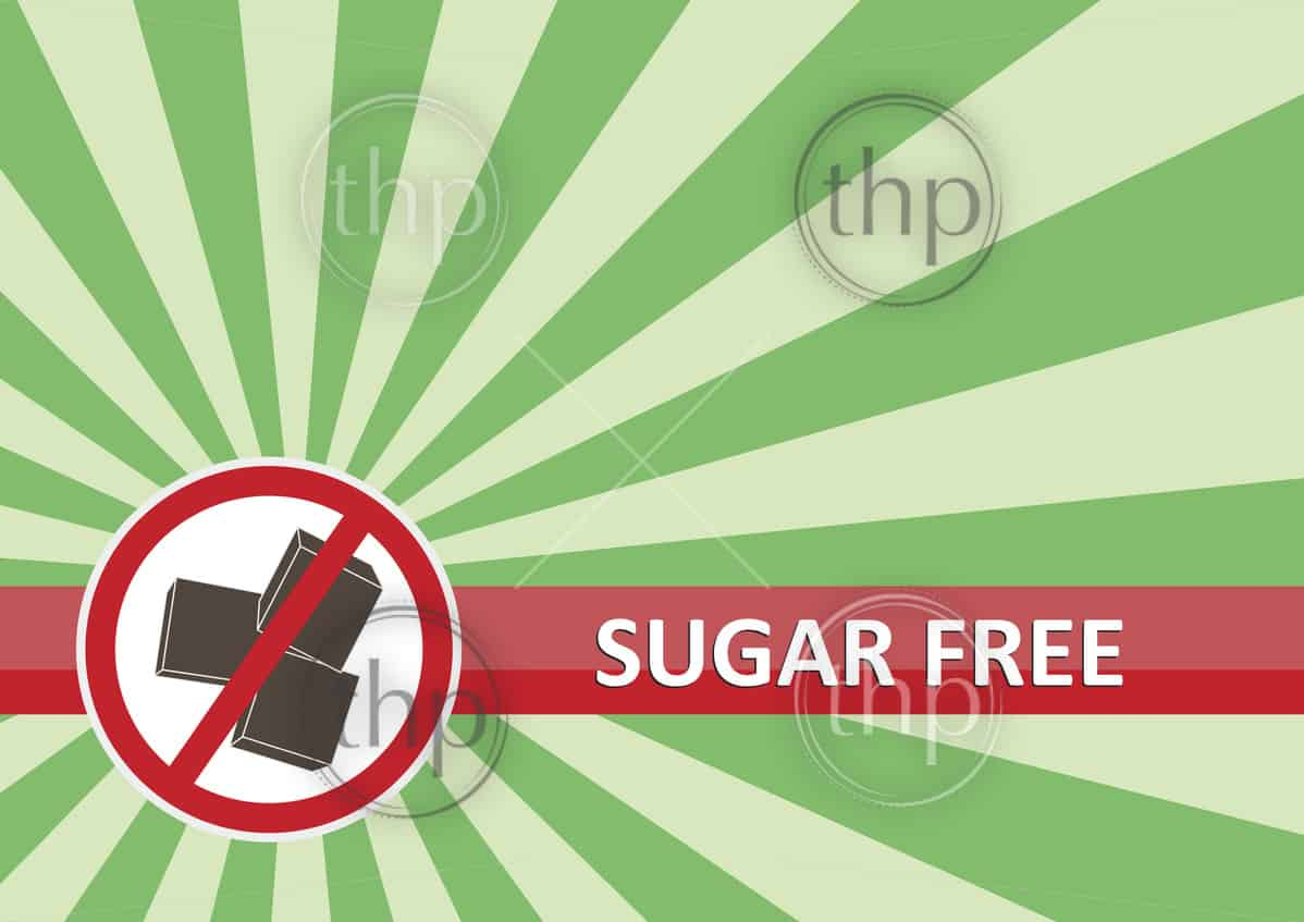 Sugar free banner for food allergy concept