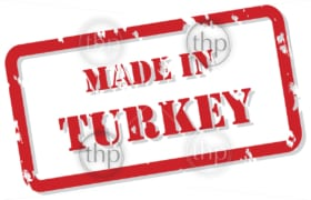 Red rubber stamp vector of Made In Turkey