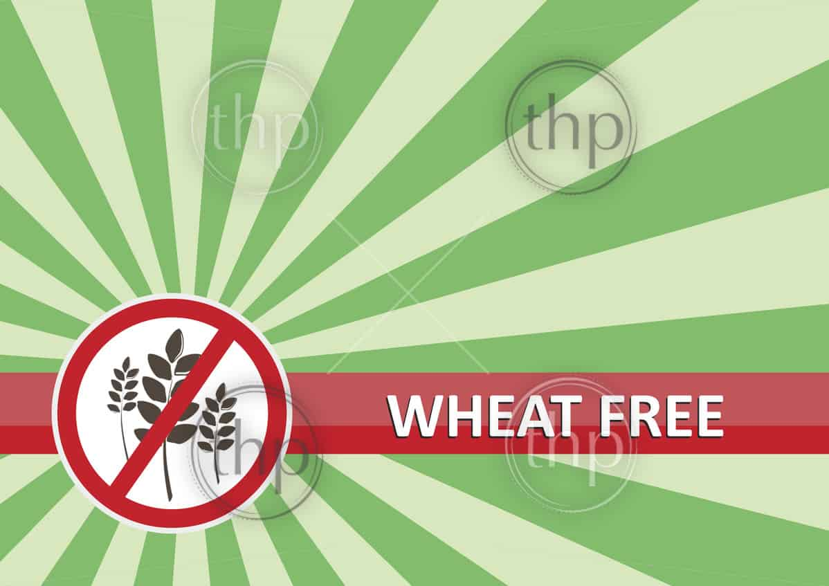 Wheat free banner for food allergy concept