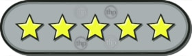Star ratings vector for reviews with 5 stars rated