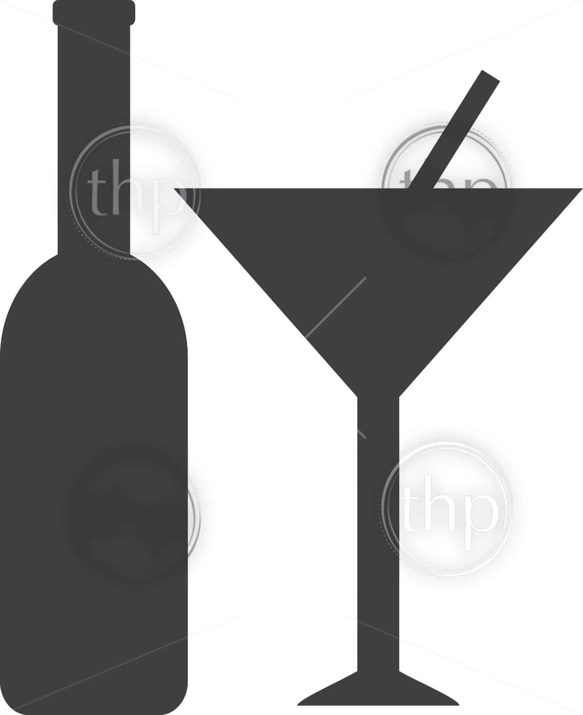 Alcohol icon in simple vector style