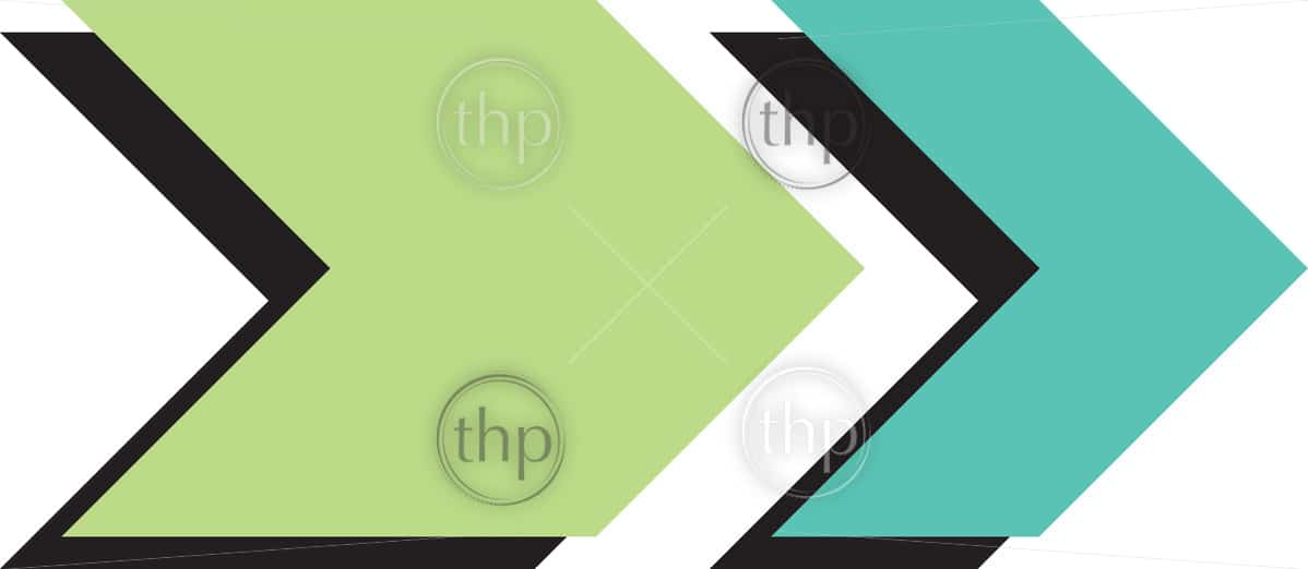 Modern flat design vector arrow with shadow
