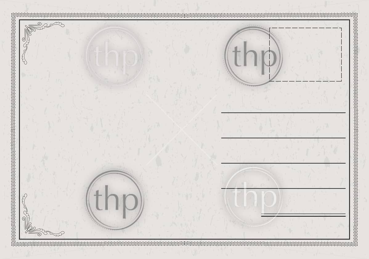 Postcard vector in a classic, elegant style with paper texture