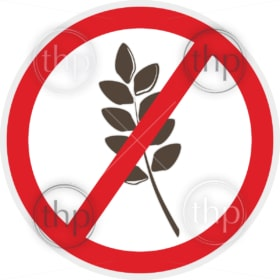 Gluten free icon in flat style for food allergy concept