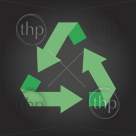 Modern flat design vector recycle symbol in various colors