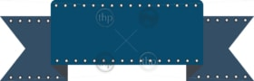 Classic ribbon for banner small stars along edge in vector