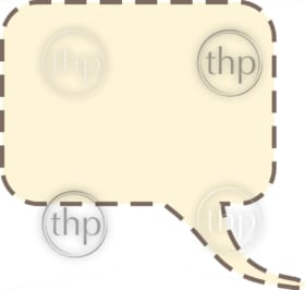 Speech bubble vector graphic with heavy dotted outline